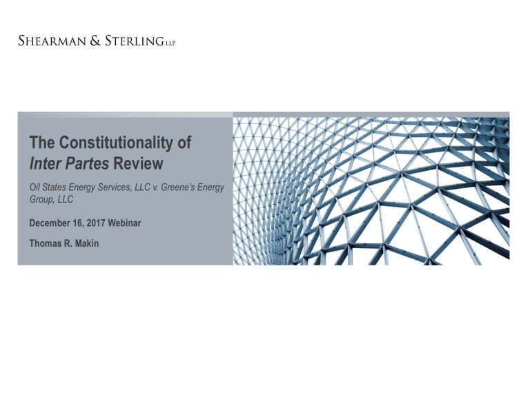 Oil states IPR constitutionality webinar cover