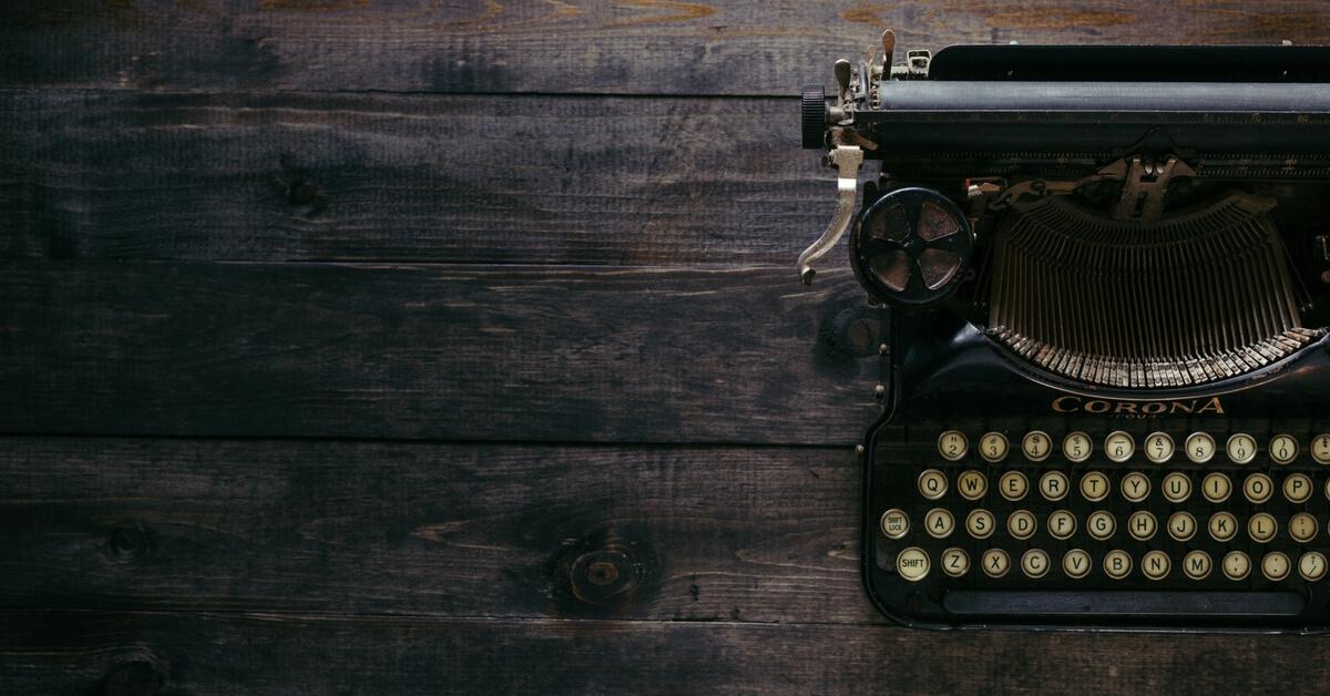 contact us typewriter